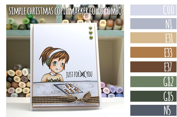 Simple Christmas Copic Marker Color Combo