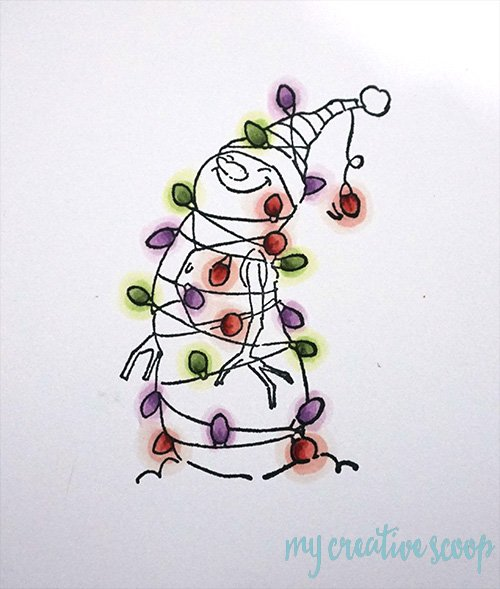 How to color Christmas Lights using Copic Markers