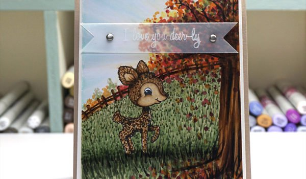 Creating Fall Trees using Copic Markers – Fast Action Video