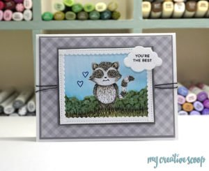 Download Your Free Raccoon Digi Stamp
