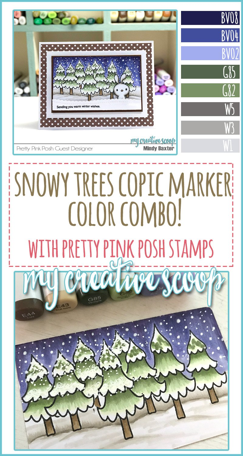 Snowy Trees Copic Marker Color Combo
