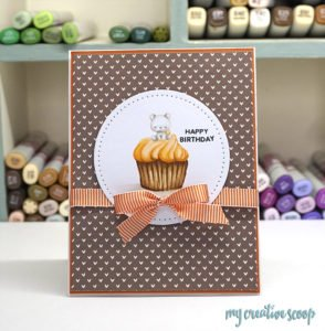 How to color a Cupcake using Mama Elephant Stamps