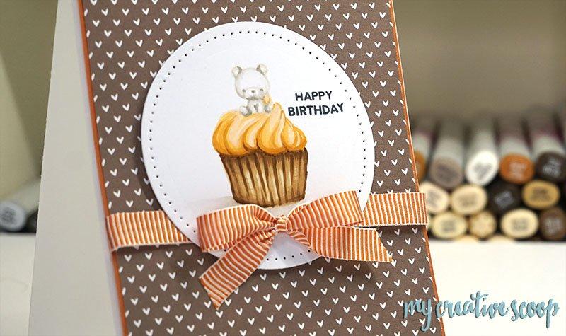 How to color a Cupcake using Mama Elephant Stamps - Fast Action Coloring Video