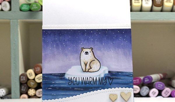 How to Create an Arctic Background using Copic Markers