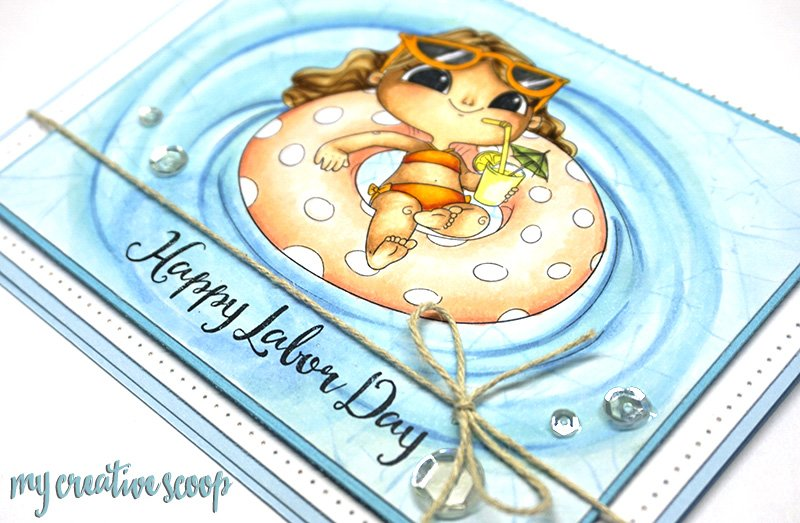 Happy Labor Day Card + Coloring Class Sale