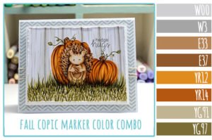Fall Copic Marker Color Combo with Newton's Nook