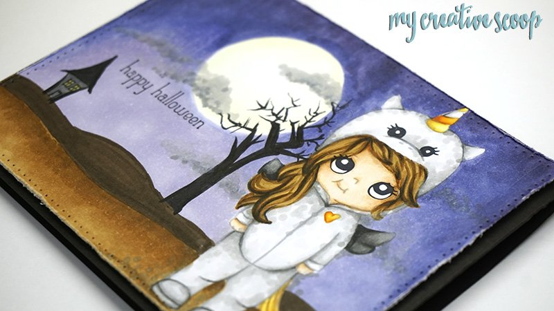 How to Create a Halloween Background using Copic Markers
