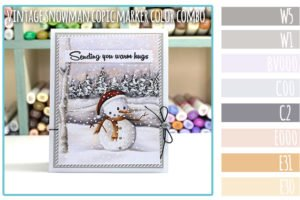Vintage Snowman Copic Marker Color Combo