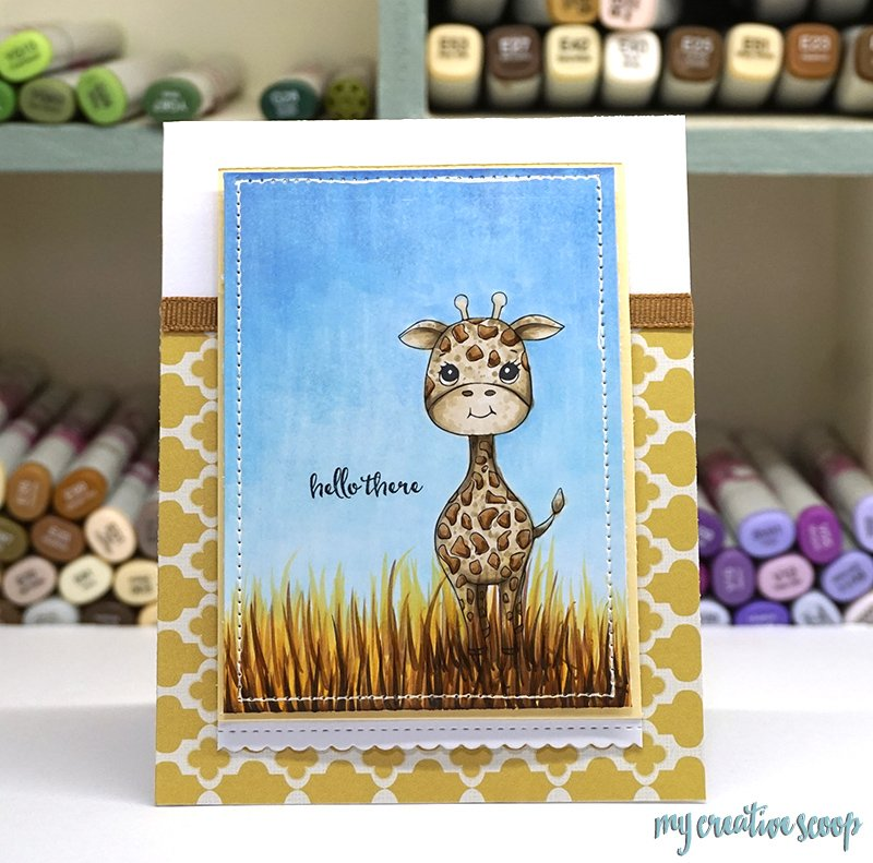 Coloring a Giraffe using Copic Markers + FREE Digi - My Creative Scoop