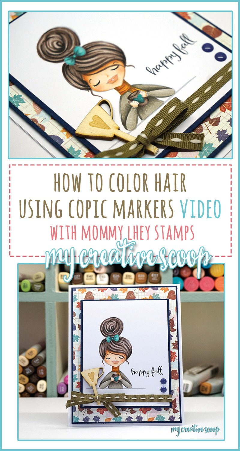 How to Color Hair Video using Copic Markers and Mommy Lhey Stamps