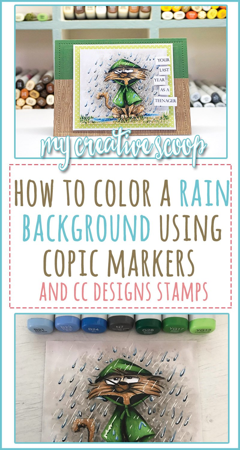 How to Color a Rain Background using Copic Markers