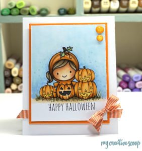 How to color Halloween Scene using Copic Markers and Love Cynthia Stamps