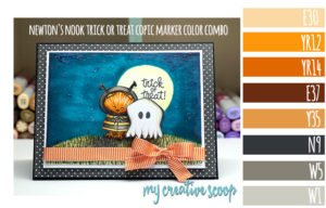 Newton's Nook Trick or Treat Copic Marker Color Combo