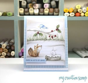 Create a scene around your stamps using my ONLINE Holiday Backgrounds Class