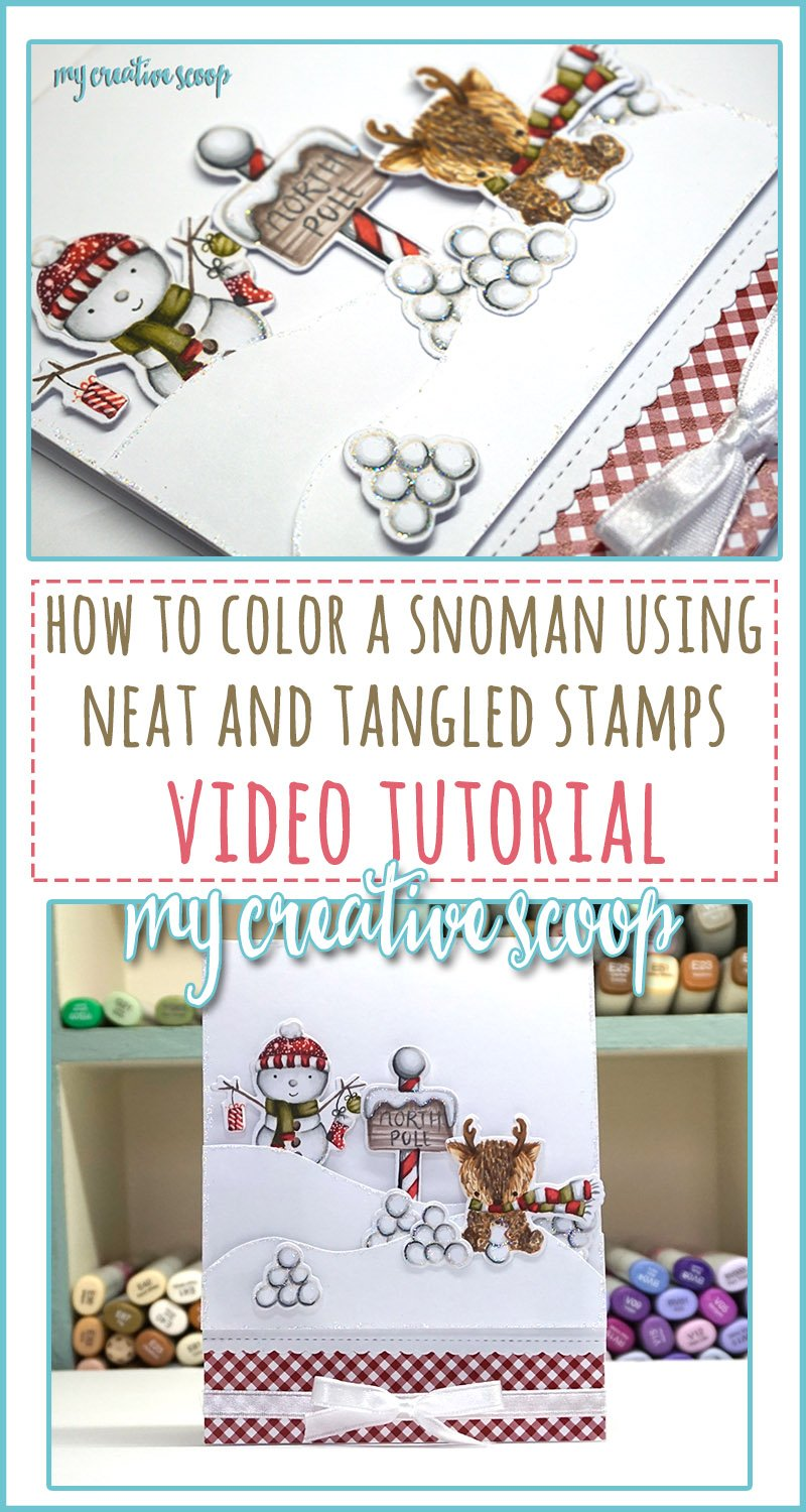 How to Color a snowman using Neat and Tangled Stamps Video Tutorial