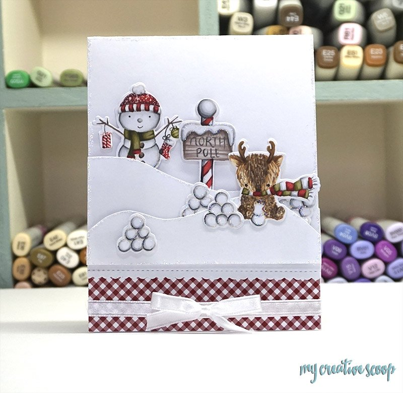 How to Color a Snowman using Copic Markers and Neat and Tangled Stamps