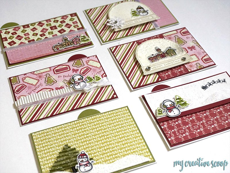 Lawn Fawn Christmas Card Gift Card Holder Class