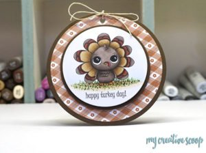 Free Little Gobbler Turkey Digi Stamp