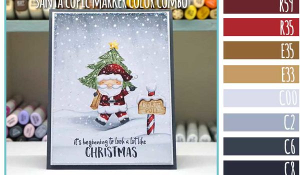 Neat and Tangled Santa Copic Marker Color Combo