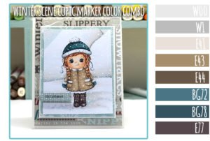 Winter Scene Copic Marker Color Combo + Free Digi Stamp
