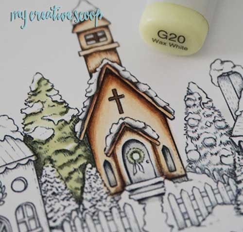 How to get a Watercolor Look using Copic Markers