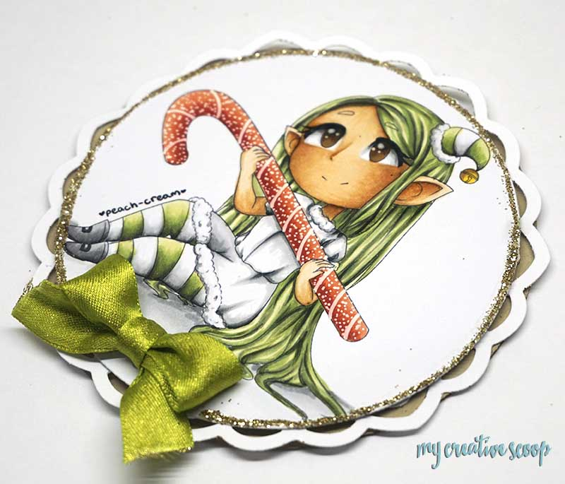 Download your Free Digi Stamp - Candy Cane Elf