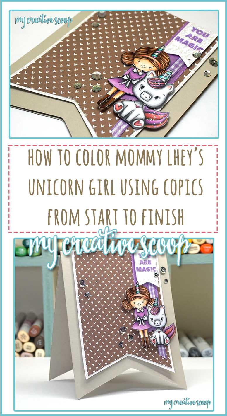 How to Color Mommy Lhey Unicorn Girl Stamp Fast Action Coloring Video