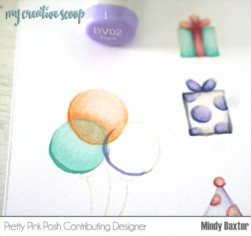 How to color a transparent balloon using Copic Markers