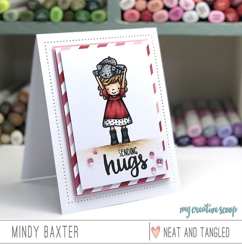 How to Color a Red Dress and Create Your Own Pleats using Copics and Neat and Tangled