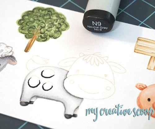 How to Color a Cow using Copic Markers