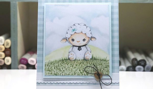 Linnie the Lamb Free Digi Stamp