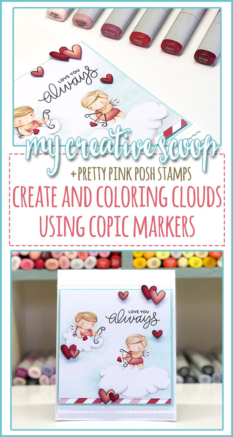 Create and Color Clouds using Copic Markers