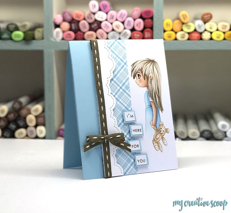 Coloring Hair with Copic Markers Tutorial and Free Digi Stamp
