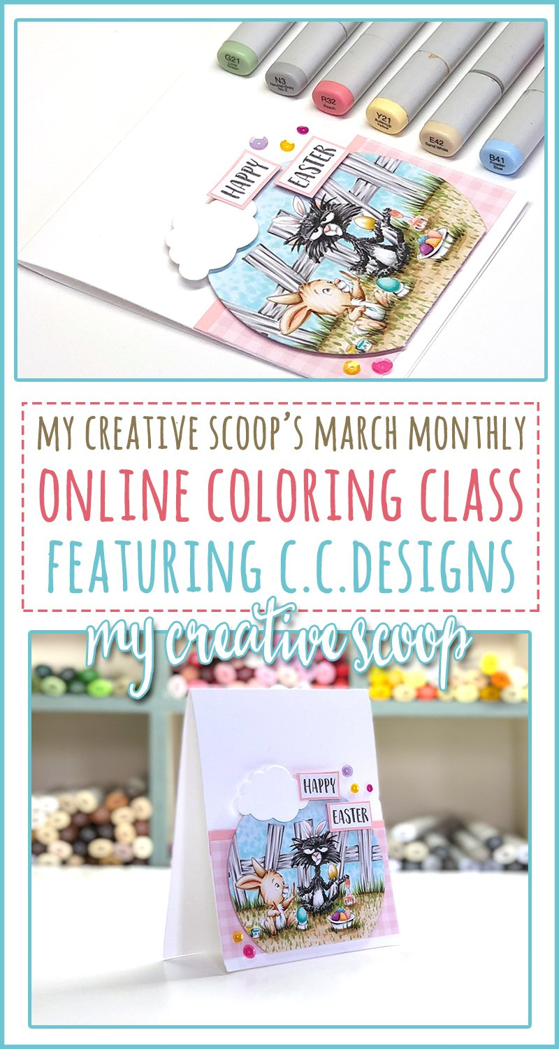 March Monthly Coloring Class Featuring CC Designs