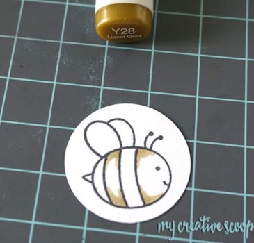 How to color a Bee using Copics from Pretty Pink Posh