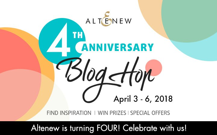Altenew's 4th Anniversary Blog Hop Day 2 + Giveaway