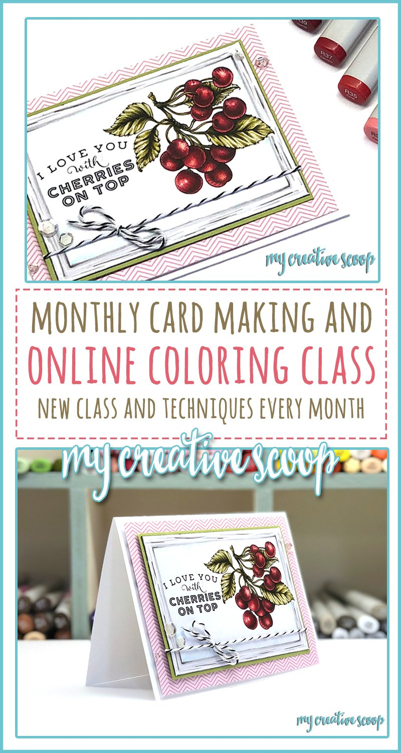 Monthly Coloring Class Featuring Power Poppy Digi Stamps