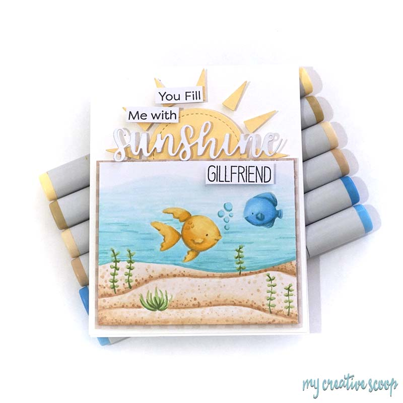 Create an Ocean Scene Copic Marker Video Tutorial for MFT Stamps