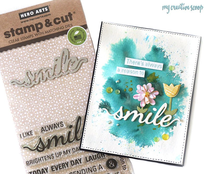 Simon Says Stamp Bright and Cheerful Challenge with Hero Arts