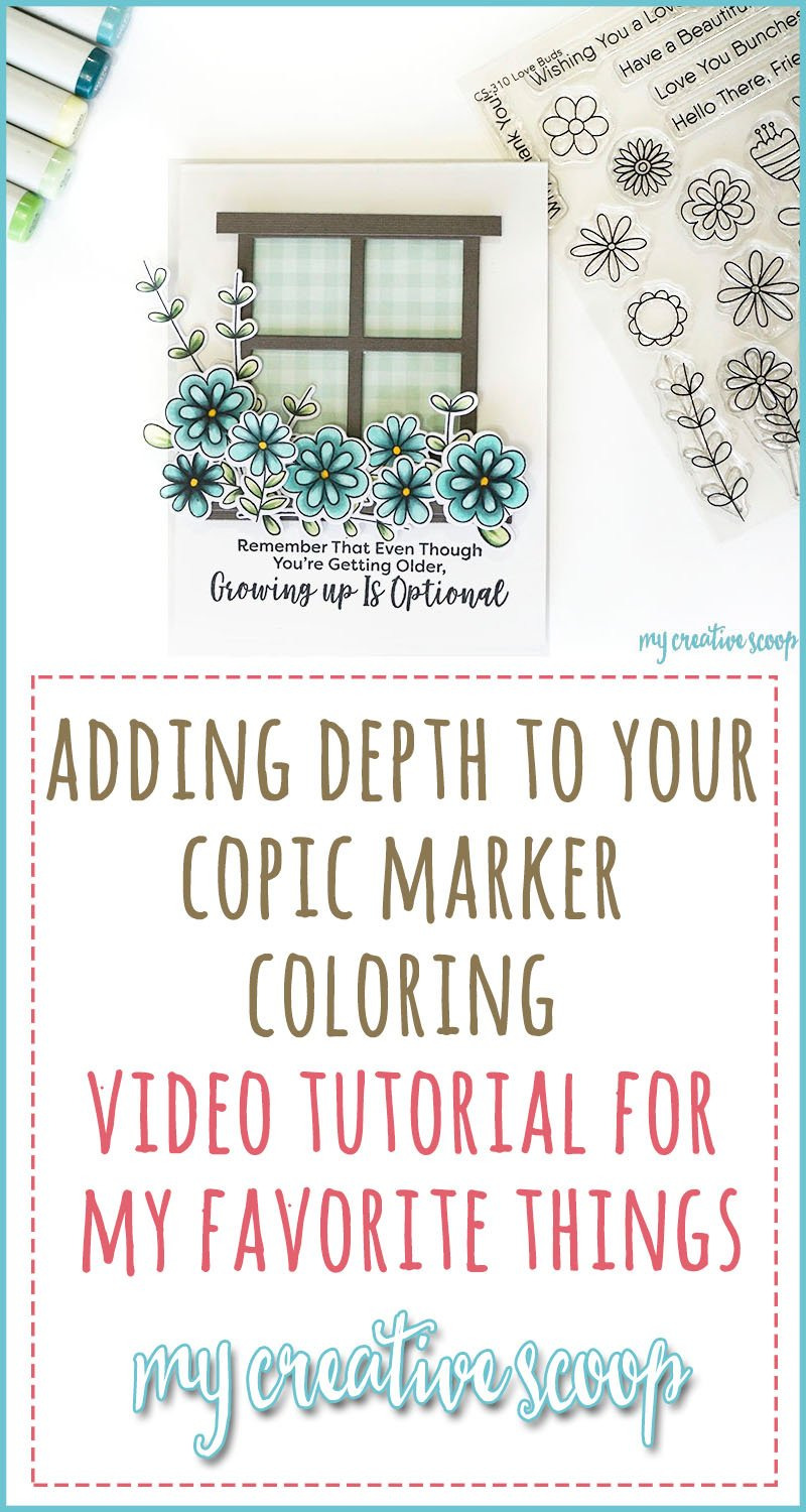 Adding Depth to your Copic Marker Coloring Video Tutorial for MFT