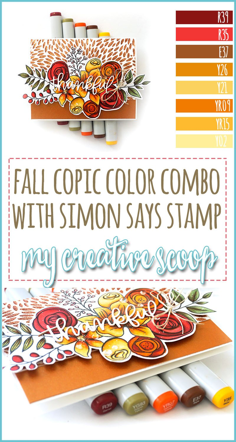 Simon Says Stamp - Anything Goes with Hero Arts Fall Copic Marker Color Combo