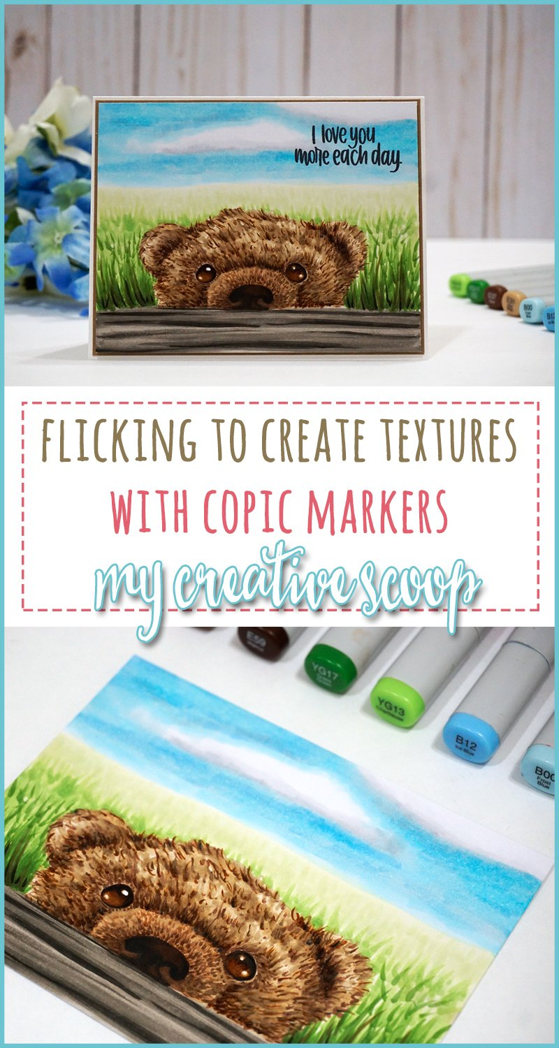 Flicking to Create Textures using Copic Markers