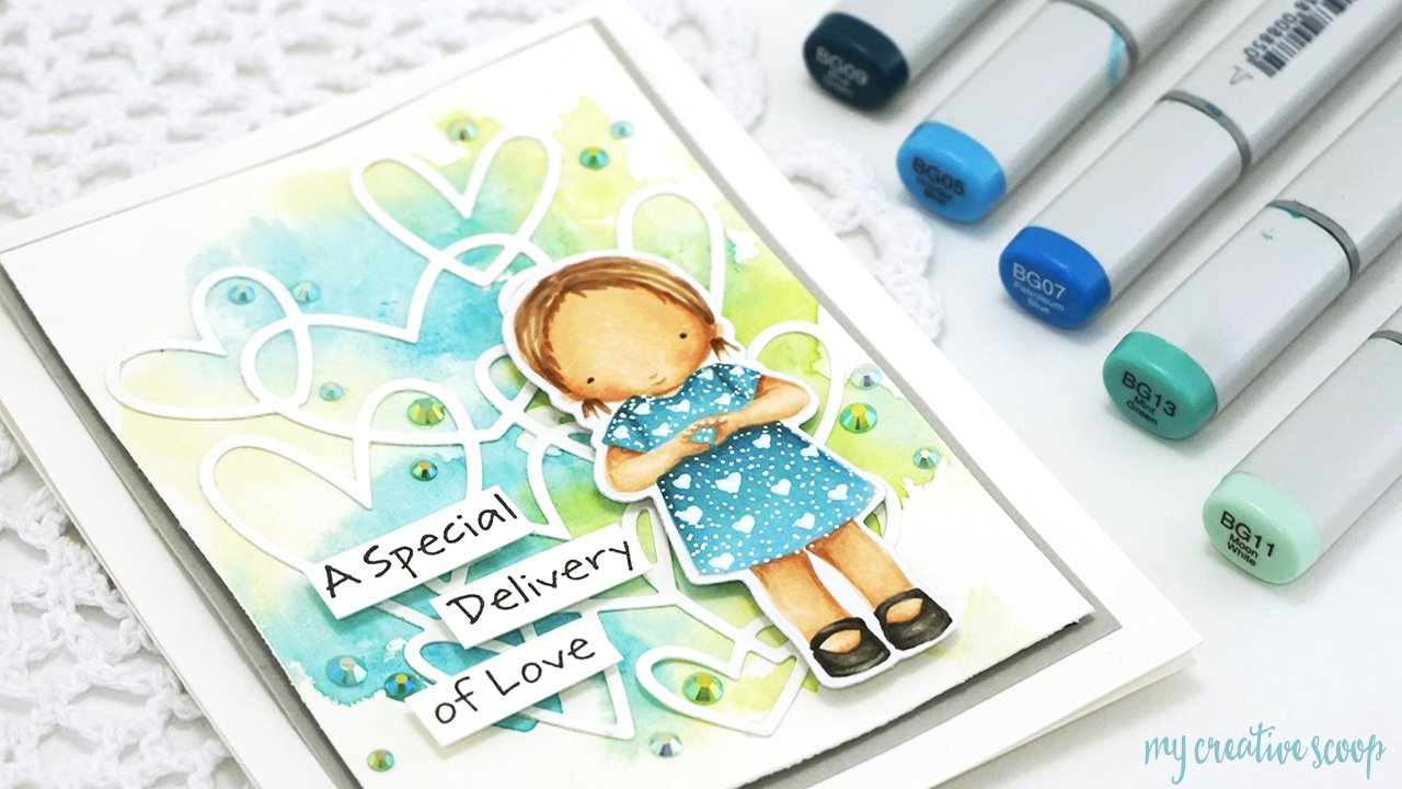 Use a Heart Featuring My Favorite Things + No Line Copic Video Tutorial