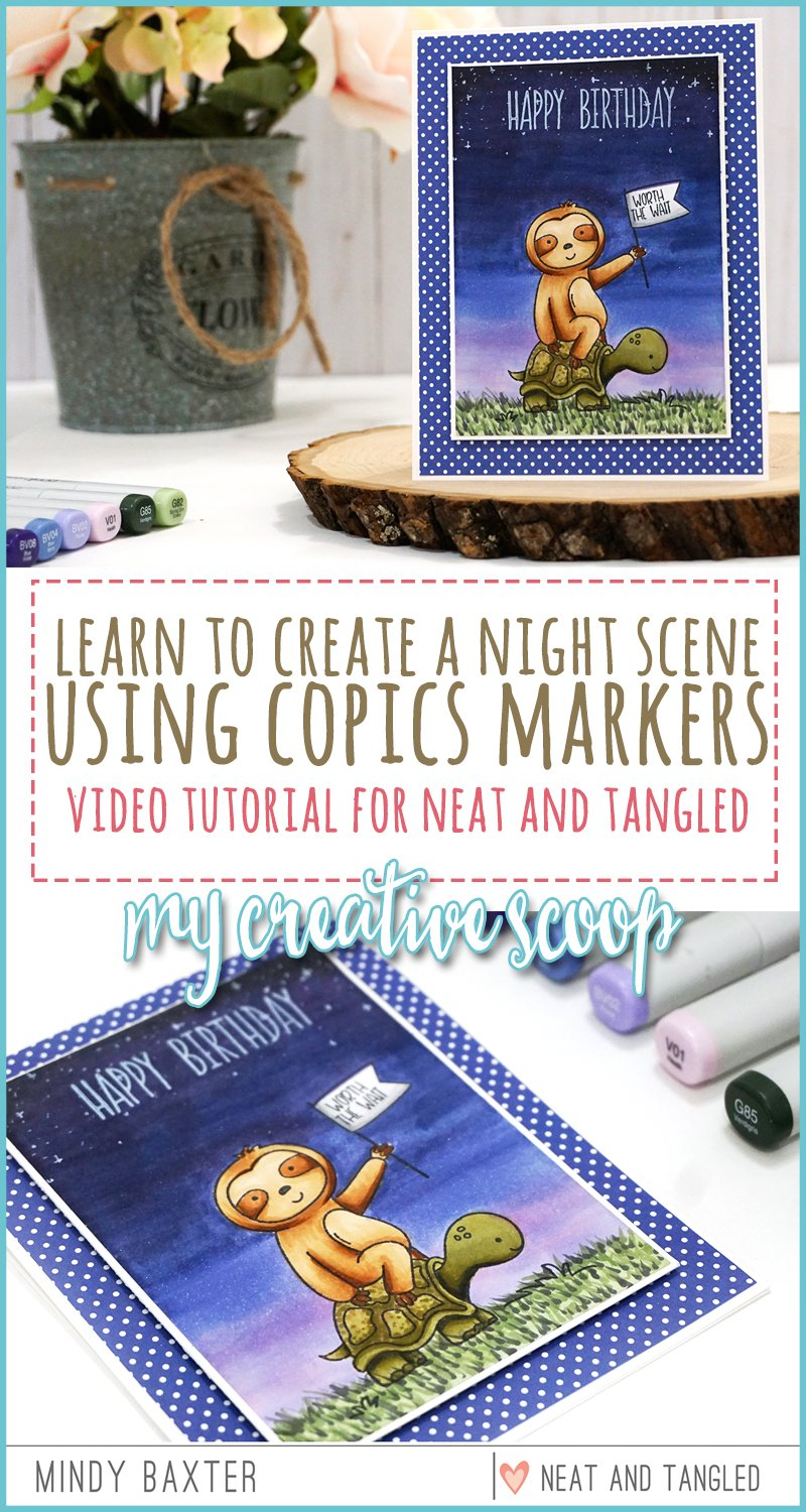 Video Tutorial - Coloring a Night Sky with Copic Markers