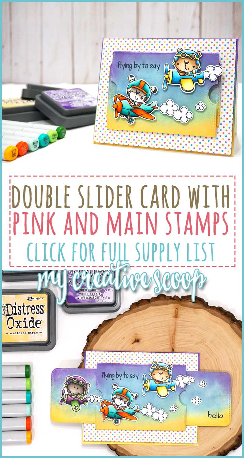 Double Slider Card with Pink and Main