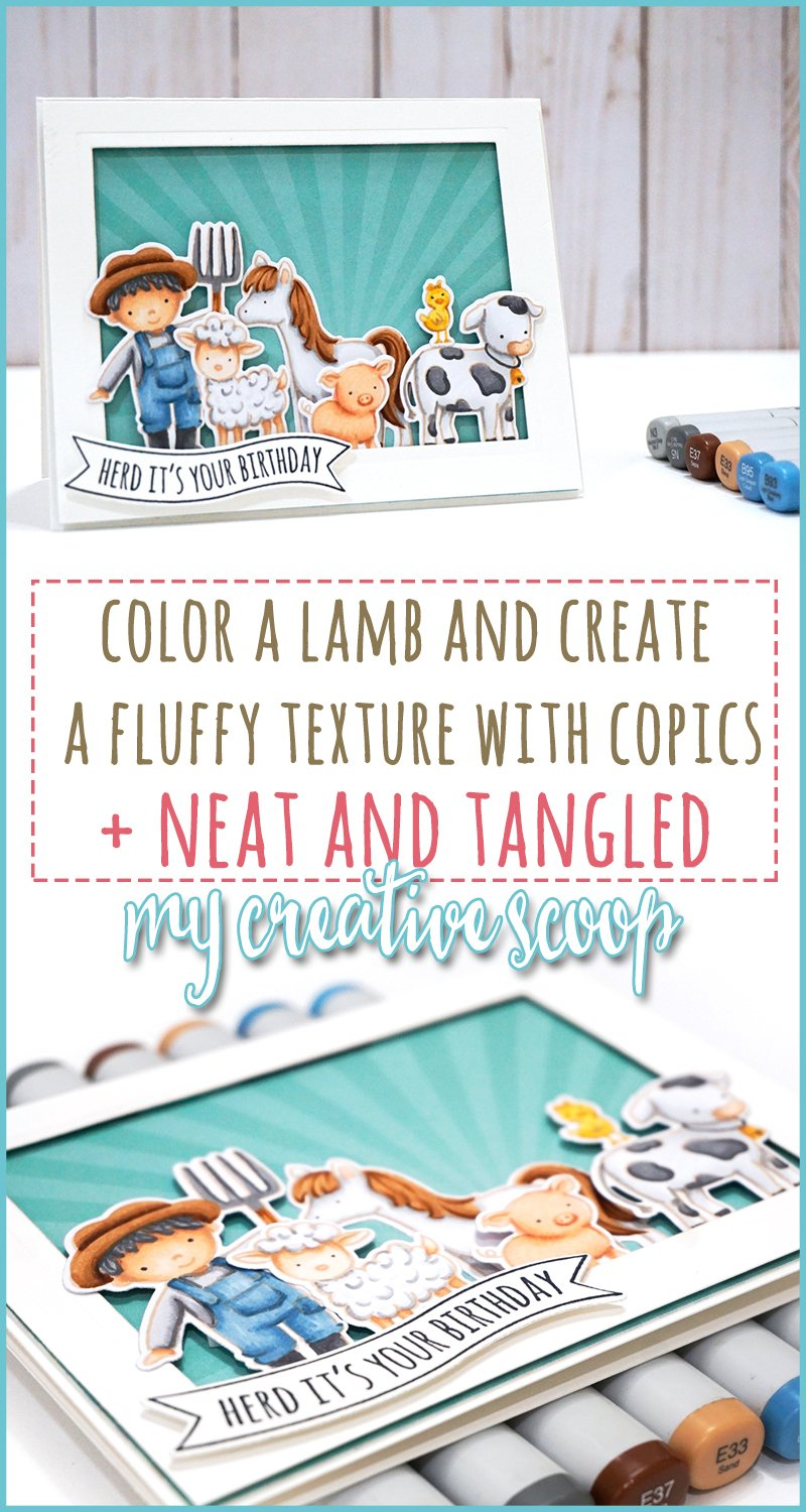 Color a lamb and create a fluffy texture with Copics