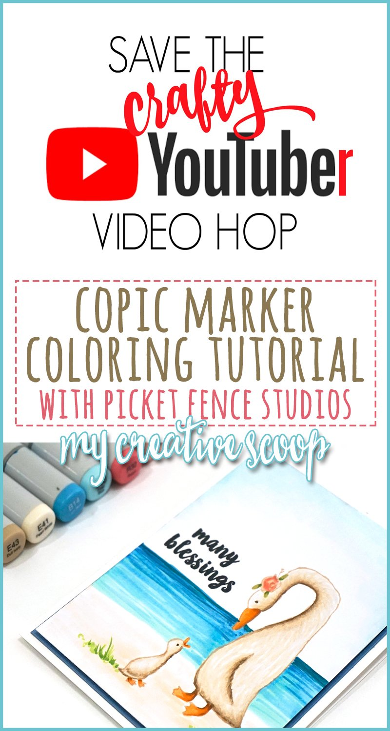 Copic Marker Tutorial + Save the Crafty YouTuber Hop