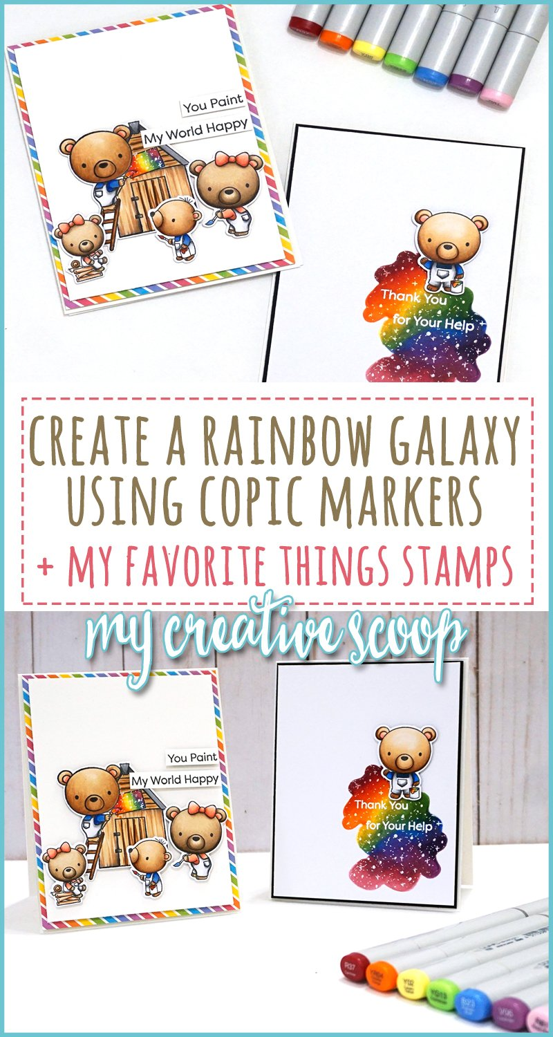 Rainbow Galaxy Copic Marker Video Tutorial with MFT
