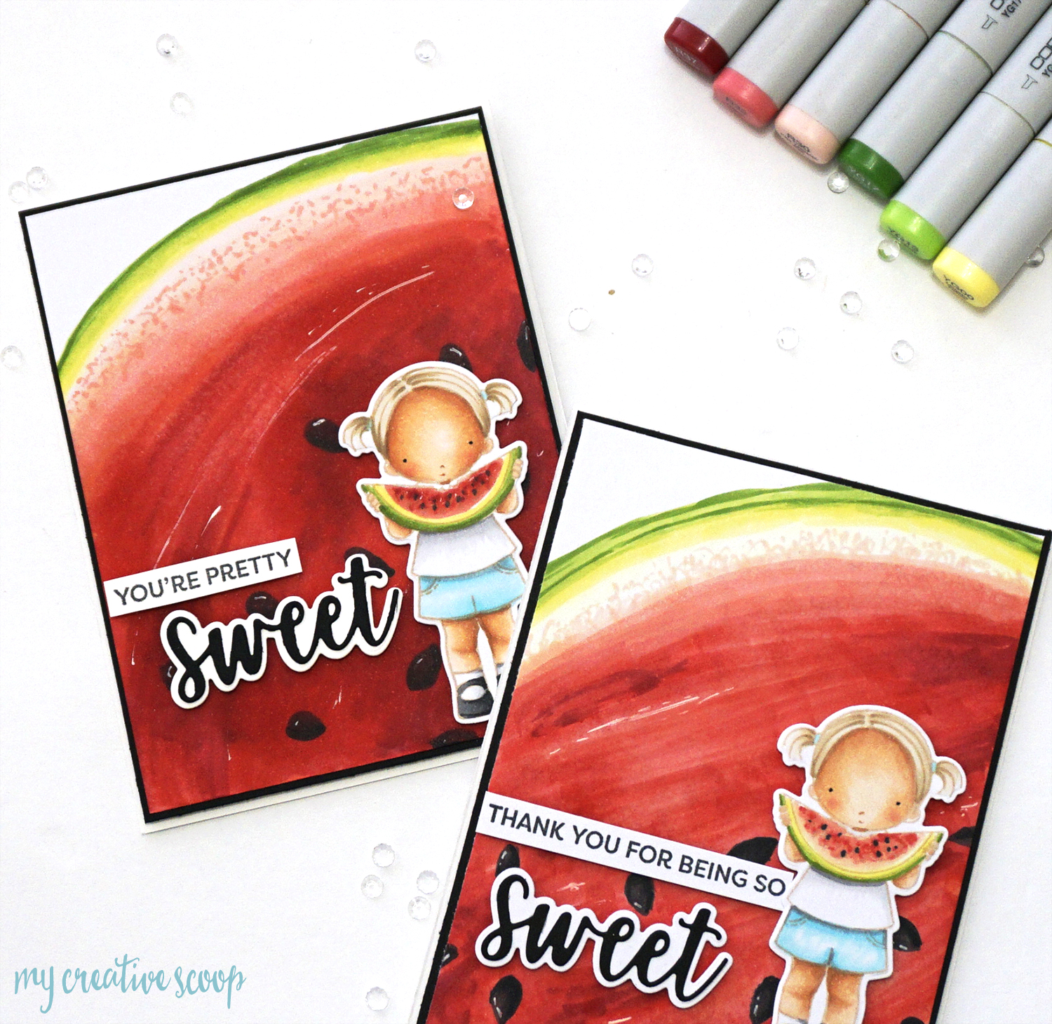 Copic Watermelon Tutorial with My Favorite Things