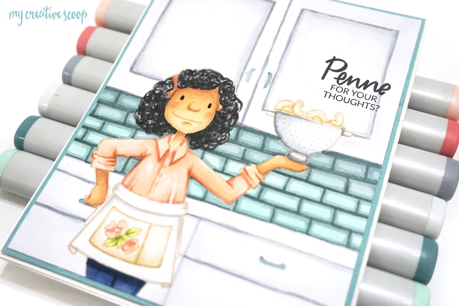 Creating a Kitchen Background With Ellen Hutson and Copic Markers